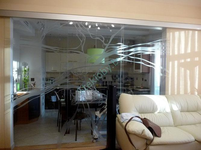 стеклянные межкомнатные перегородки