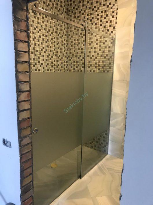 Раздвижная стеклянная перегородка купить в Минске