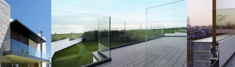 Стеклянные ограждения для балкона, терассы