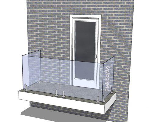 Ограждения из стекла для балкона