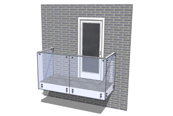 Ограждение балкона из стекла Минск